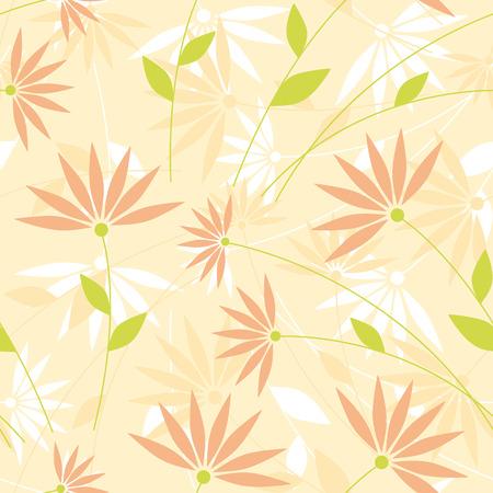 Light wallpaper with elegant flowers in pastel tones.
