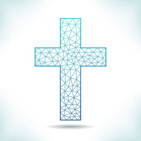 interpretation: Blue geometric cross. Unusual interpretation.