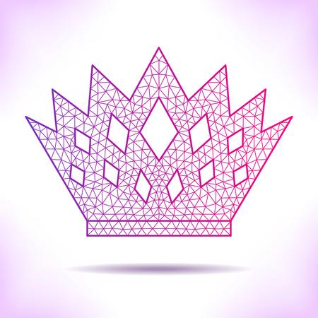 interpretation: Geometric crown. Unusual interpretation for card, invitation, article or others. Illustration