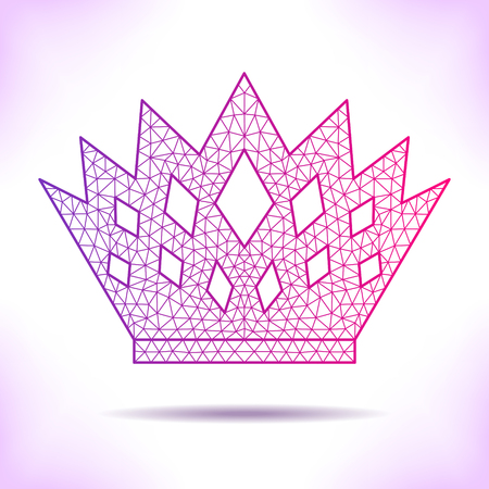 Geometric crown. Unusual interpretation for card, invitation, article or others. Illustration