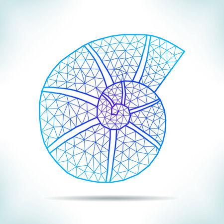 interpretation: Geometric blue shell. Unusual interpretation. Illustration