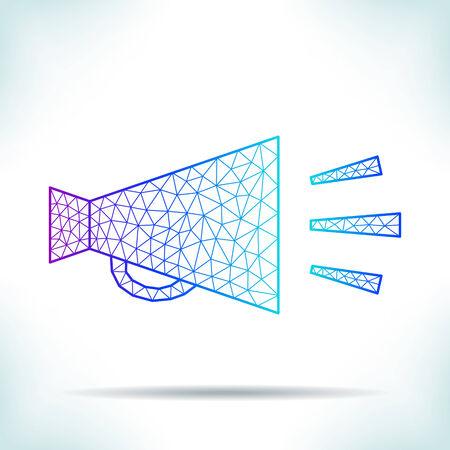 speaking trumpet: Geometric speaking trumpet. Unusual interpretation. Illustration