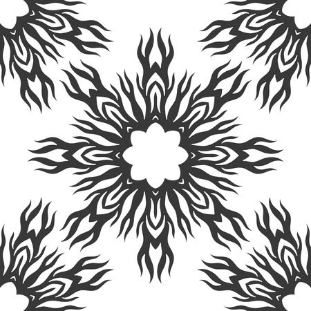 white wallpaper: Abstract seamless pattern. Black and white wallpaper tile for background, wrapping, fabric or others. Illustration