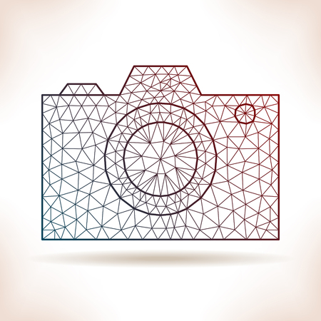 photocamera: Geometric photocamera. For flyer, poster, article or other.