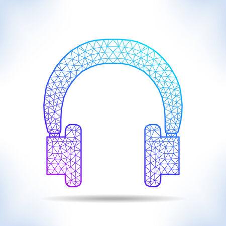 interpretation: Geometric headphones. Unusual geometric interpretation.