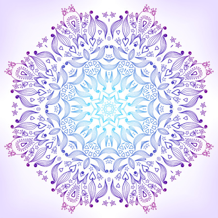 Floral mandala. Ornament can be used as a greeting card Vector