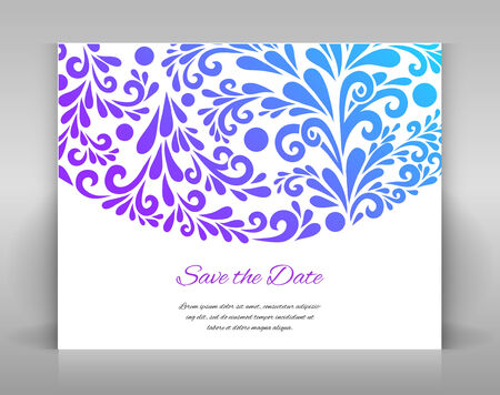 envelop: Save the date card. Template for card, envelop, or other.