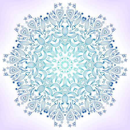 Floral mandala. Ornament can be used as a greeting card or other. Vector