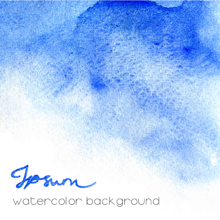 watery: Blue watercolor background. Abstract artistic texture.