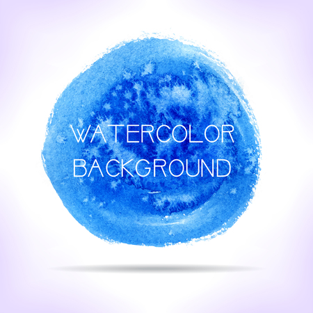Watercolor background. Blue artistic banner. (Vector) Vector