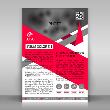 Business flyer design, broshure cover template. Vector mock up. Vector