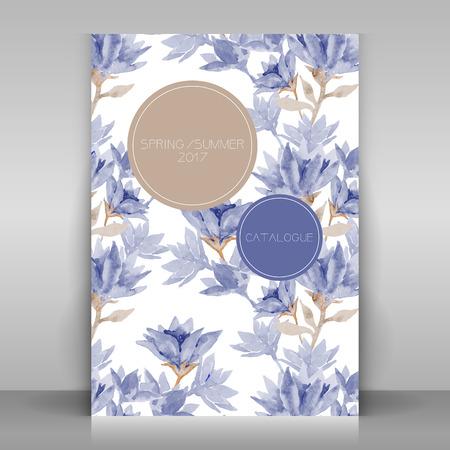 cover concept: Fashion cover broshure design. Vector template.