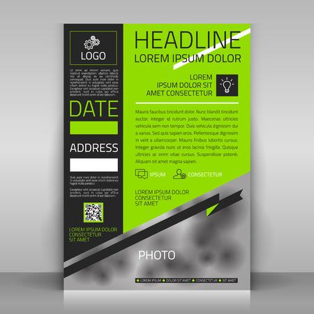 mock up: Business flyer design, broshure cover template. Vector mock up.