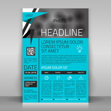 catalog background: Business flyer design, broshure cover template. Vector mock up.