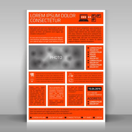 mock up: Business flyer design, poster template. Vector mock up. Illustration
