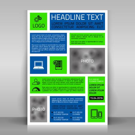 broshure: Business flyer design, broshure cover template. Vector mock up.