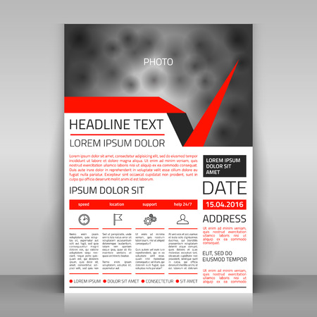 article marketing: Business flyer design, broshure cover template. Vector mock up.