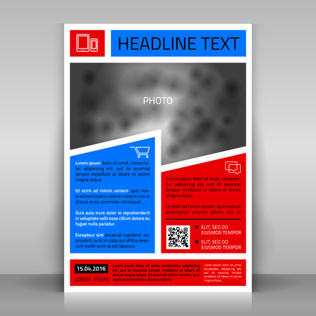 broshure: Business flyer design, broshure cover template. Vector mock up.