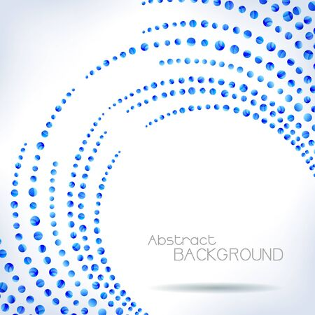 Background with blue abstract lines. Bubble design - vector illustration. Vector