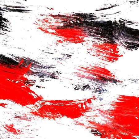 예술적 배경입니다. 흰색과 검은 색과 빨간색 페인팅 텍스처입니다. 벡터 일러스트 레이 션.