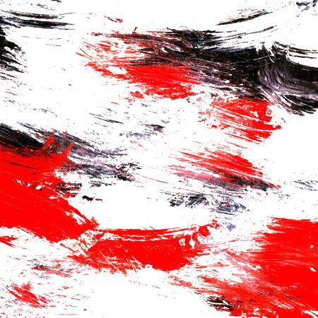 Artistic background. White and black and red painting texture. Vector illustration.