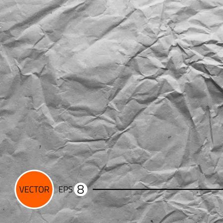 textura papel: Una textura de papel arrugado. Vector ilustraci�n de fondo.