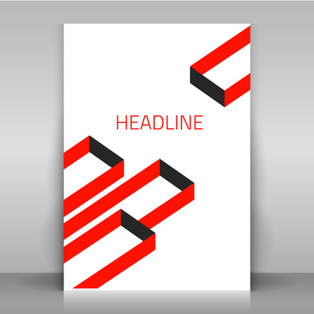 mock: Brochure cover template mock up.