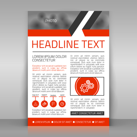 article: Template for corporate poster, article, brochure. Place for photo included.