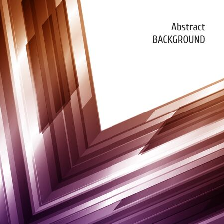 asymmetry: Abstract geometric background in violet and brown. Asymmetry design. For annual report cover, business flyer. Vector illustration.