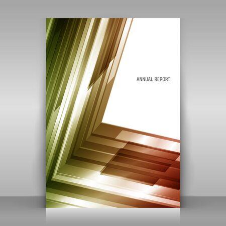 Poster op een grijze achtergrond. Met abstract geometrisch ontwerp. Asymmetrie. Vector sjabloon. Stock Illustratie