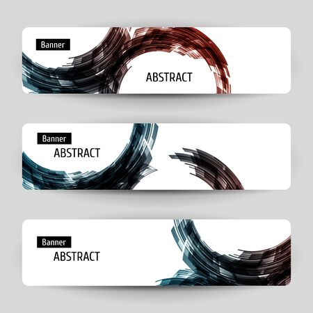 Banner set with abstract design. For technology, business, party design. Vector temlpate.