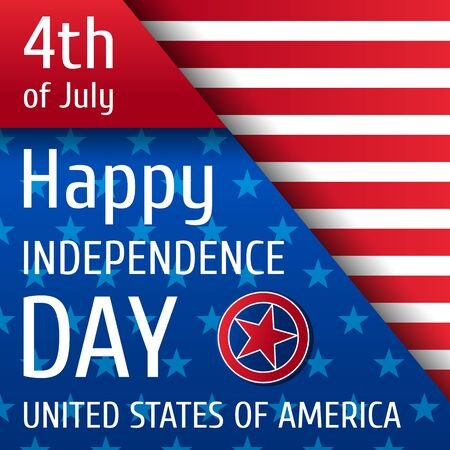 Independence day background. 4th of July.