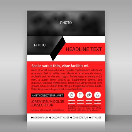 sheet of paper: Business template. Paper sheet on gray background. template for advertising poster. Abstract design.