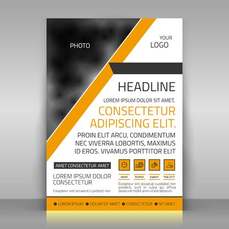 Business template. Paper sheet on gray background. template for advertising poster. Abstract design.