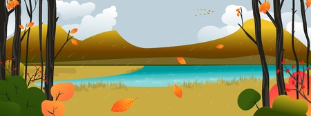 Autumn Scene Vector