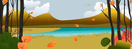 rainy season: Autumn Scene