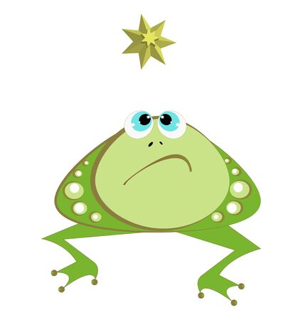 Frog and star Stock Vector - 11125572