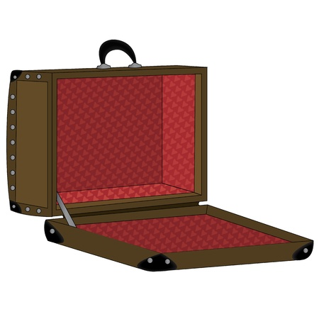 Koffer Stock Illustratie