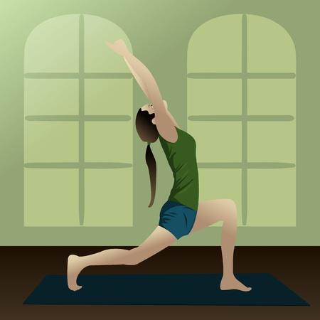 Jong meisje het beoefenen van yoga in de kamer Yogi2