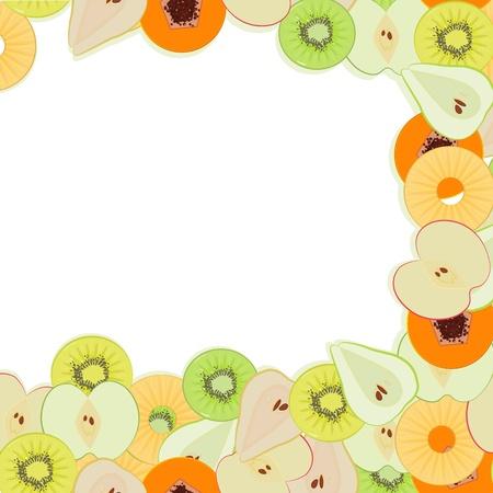 orange cut: Fruity mensaje Vectores