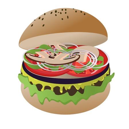Vegan burger Stock Vector - 12851882