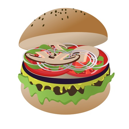 Vegan burger Stock Vector - 12851882