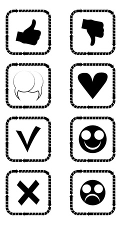 Social icons silhouettes Stock Vector - 13234089