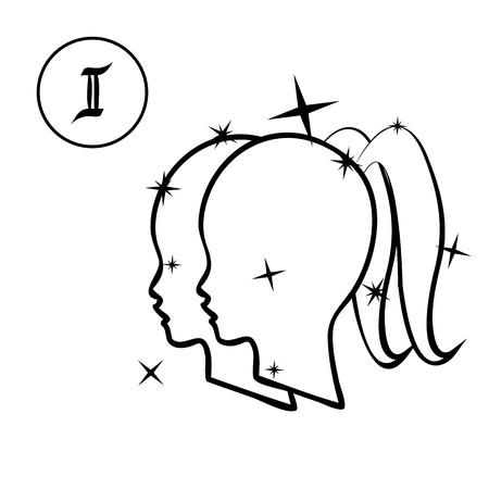 Géminis Ilustración de vector