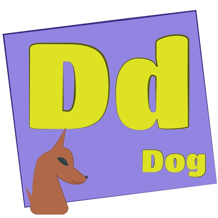 D-dog Colorful alphabet letters with words starting with each and their image Stock Photo - 14267639