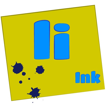 I-ink Colorful alphabet letters with words starting with each and their image Stock Photo - 14267634