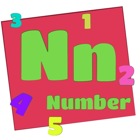 N-number Colorful alphabet letters with words starting with each and their image photo