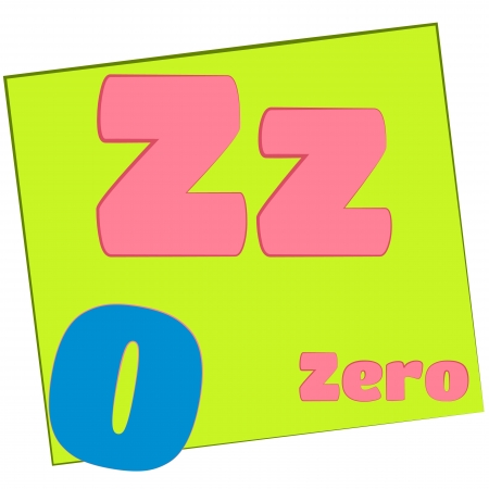 Z-zero Colorful alphabet letters with words starting with each and their image Stock Photo - 14267637