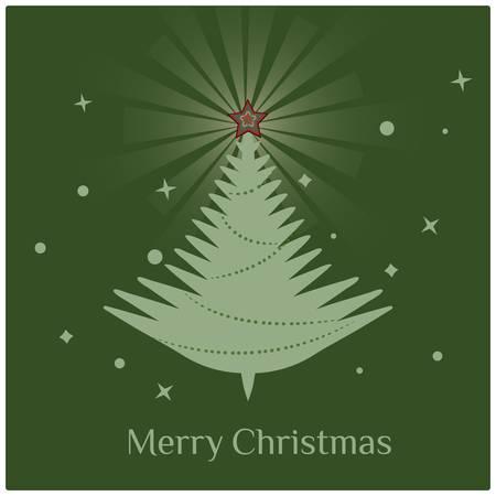 Christmas tree/Stylish retro Christmas tree with Merry Christmas greeting text Stock Vector - 15826375