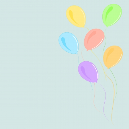 Colorful Balloons /Colorful Balloons in the air, with space for text Stock Vector - 15910545